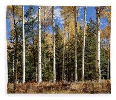 Vibrancy Of Autumn II Fleece Blanket