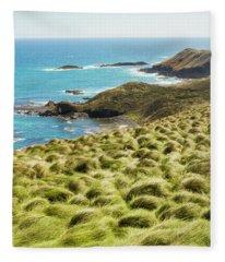 Vibrant Cape Seascape Fleece Blanket