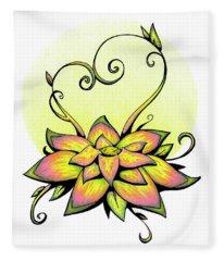 Vibrant Flower 8 Fleece Blanket