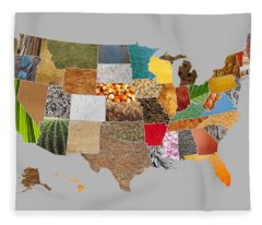 Vibrant Textures Of The United States Fleece Blanket