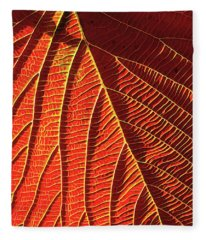 Vibrant Viburnum Fleece Blanket