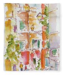 Vicolo Del Cedro Trastevere Roma  Fleece Blanket