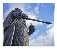 Victoria At Windsor Castle Fleece Blanket