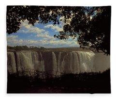 Victoria Falls, Zimbabwe Fleece Blanket