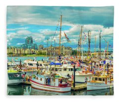 Victoria Harbor 2 Fleece Blanket