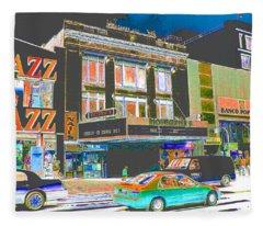 Victoria Theater 125th St Nyc Fleece Blanket