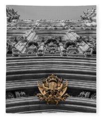 Victoria Tower Low Angle London Fleece Blanket