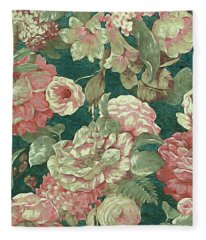 Victorian Garden Fleece Blanket