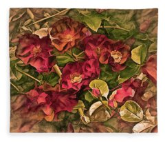 Victorian Rose Delight 14 Fleece Blanket