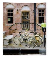 Victoria's Bicycles Fleece Blanket