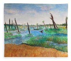 Viera Wetlands Fleece Blanket