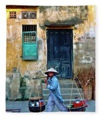 Vietnamese Street Food Sound Fleece Blanket