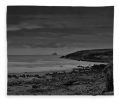 View At Skaleg Island Bw #f2 Fleece Blanket