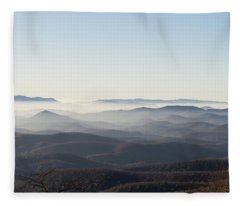 View From Blood Mountain Fleece Blanket
