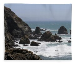 View From Bodega Head In Bodega Bay Ca - 4 Fleece Blanket