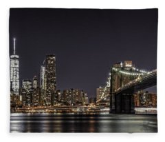 View From Brooklyn Bridge Park Fleece Blanket