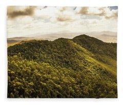 View From Halfway Up Mount Zeehan Fleece Blanket