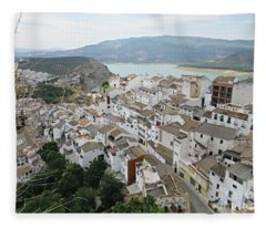 View From Iznajar Fleece Blanket