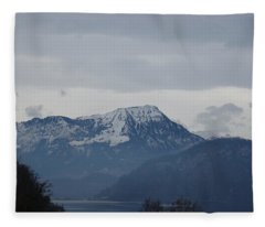 View From My Art Studio - Stanserhorn - March 2018 Fleece Blanket