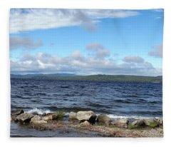 View From My Beach Fleece Blanket