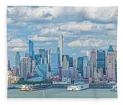 View From New Jersey 2 Fleece Blanket
