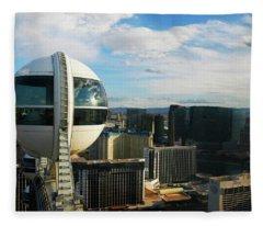 View From Tallest Ferris Wheel Vegas Fleece Blanket