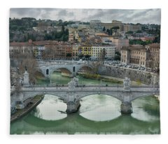 View From The Castel Sant Angelo Fleece Blanket
