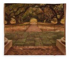 View From The Plantation House - Oak Alley Fleece Blanket