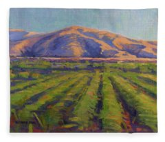 View From The Train Fleece Blanket