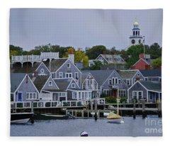 View From The Water Fleece Blanket