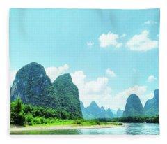 A Moment On Li River Fleece Blanket