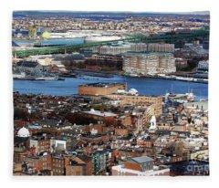 View Of Charlestown Navy Yard Fleece Blanket