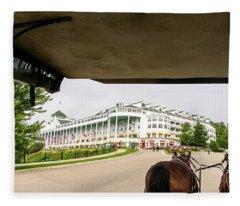 View Of Grand Hotel Fleece Blanket