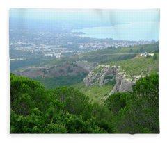 View Of La Ciotat Fleece Blanket