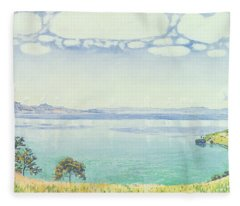 View Of Lake Leman From Chexbres Fleece Blanket