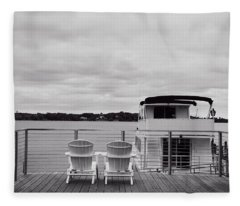 View Of Lake Minnetonka Fleece Blanket
