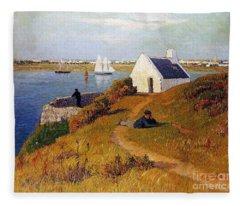 View Of Lorient In Brittany Fleece Blanket