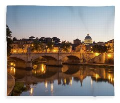 View Of Rome Fleece Blanket