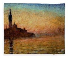 View Of San Giorgio Maggiore Fleece Blanket