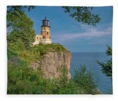 View Of Split Rock Lighthouse Fleece Blanket