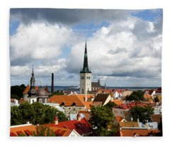 View Of St Olav's Church Fleece Blanket