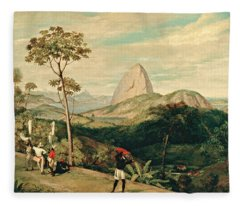 View Of Sugarloaf Mountain From The Silvestre Road Fleece Blanket