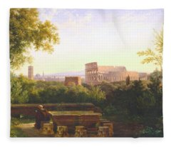 View Of The Colosseum From The Orti Farnesiani Fleece Blanket