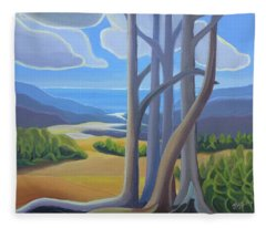 View Of The Lake Fleece Blanket