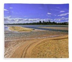 View Of Wollumboola Lake From Sand Dunes Fleece Blanket