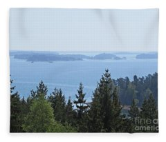 View On The Archipelago Near Trosa Fleece Blanket