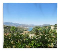 View On The Lake Near Iznajar Fleece Blanket