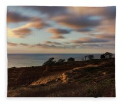 View Over Razor Point Fleece Blanket