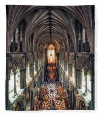 View Through Ely Cathedral Fleece Blanket