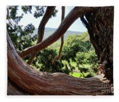 View Through The Tree Fleece Blanket